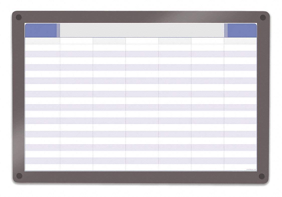 "Iceberg Gloss-Finish Glass Planning Board, Wall Mounted, 24-1/2""H x 36-1/2""W, White"