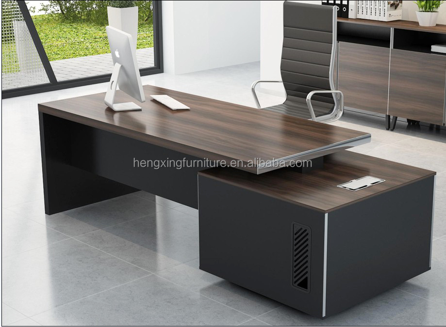 Executive Modern Director Melamine Office Desk Office Table With L