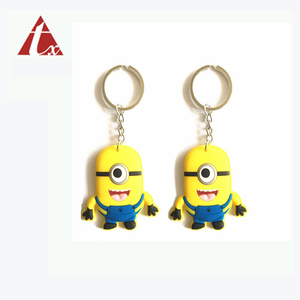 OEM Simple design small toy keyring design your own keyring custom brand logo key chain keychain bowling pin doll keychain