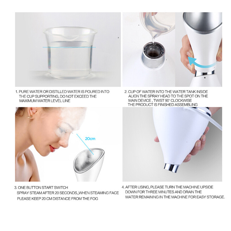 Hot Selling Amazon Keep Moisture Easy Absorb Nano Water Ionic Facial Steamer for Daily Skin Care