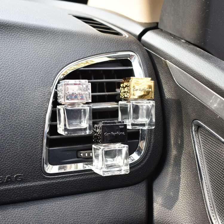 Air outlet perfume bottle , car vent car air freshener bottle air conditioner outlet empty square outlet vent