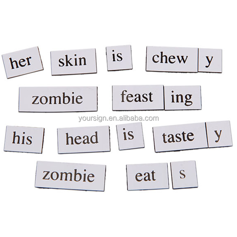 UV Printing decorative fridge letters magnetic poetry words