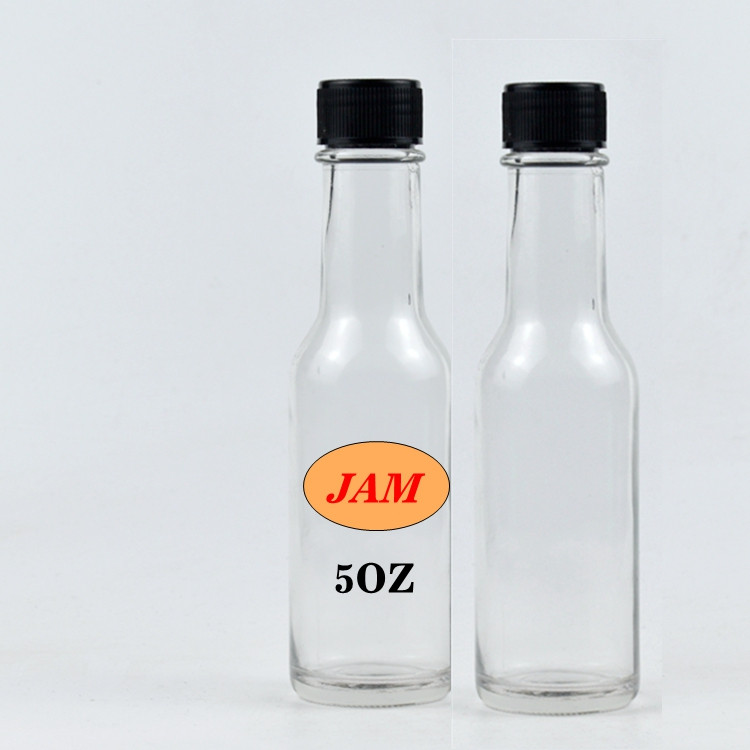 5 OZ 150ML clear hot sauce chili woozy glass bottle