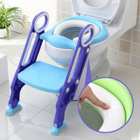 Potty Toilet Trainer Seat with Step Stool Ladder Adjustable Baby Toddler Kid Potty Toilet Seat for Boy and Girl Children