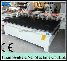 China SKW-1325 two connected 10 spindles CNC Router multi head wood cnc router