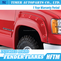 GMC Sierra 2007-2012 automotive accessories injected pocket fender flares for truck