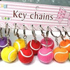 factory price cheap key chain with tennis ball for sale