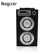 Hot Sell Portable Blue tooth Speaker 2018 Active Outdoor Party Bass Karaoke Wooden Speaker