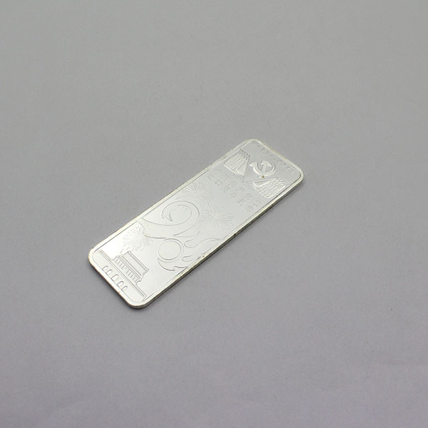 1 oz replica silver plated bullion bars with your own logo