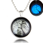 2017 Newest Silver Life of Tree Pendant Viking Glow Necklace for Men Male
