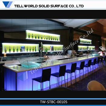 Muebles de la barra bar dise o led discoteca barra llev for Muebles para pub