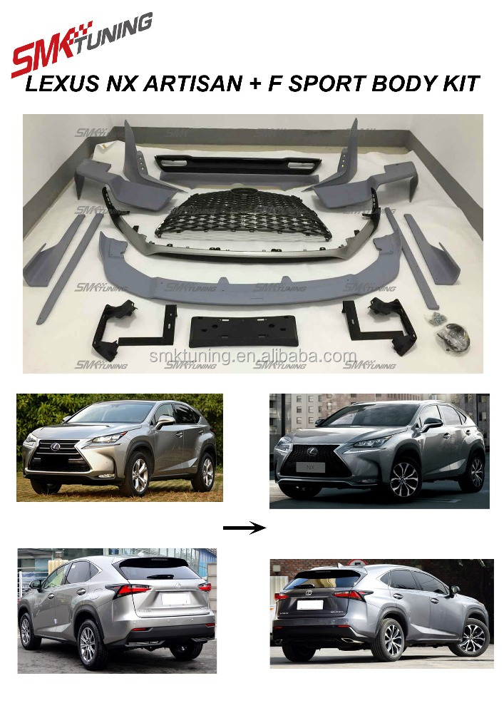 FOR 2015 2016 LEXUS NX300 NX 200 FSPORT BODY KIT,NX ARTISAN BODY KIT