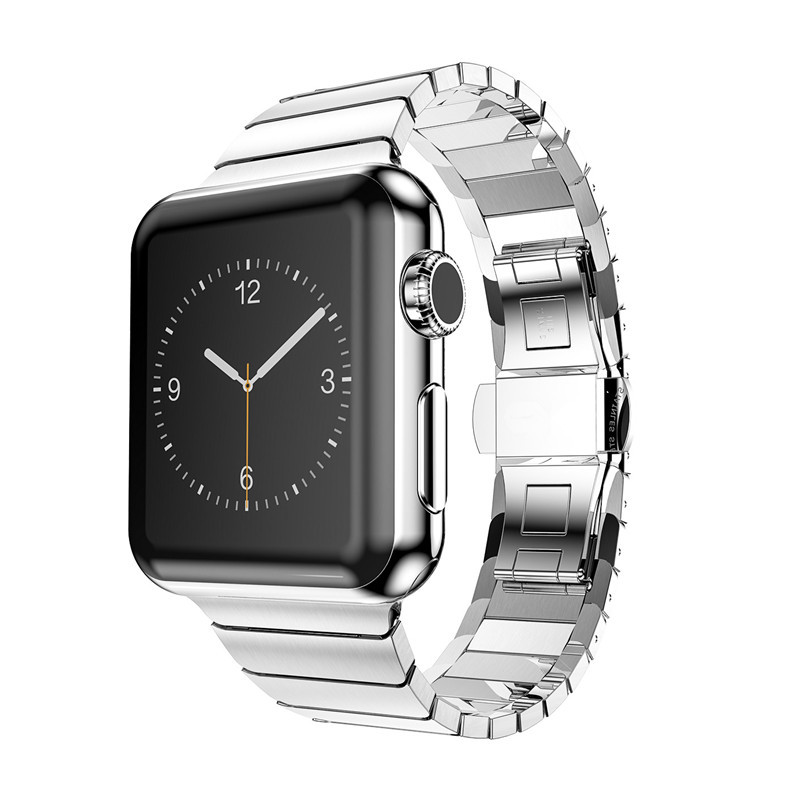 90% Original for Apple Watch Link Bracelet Stainless Steel Band for Iwatch 38mm 42mm Black Gold Silver Watchbands