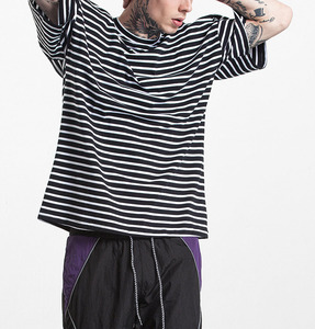 A Forever Fairness Men Hip Hop Black White Custom Bulk Striped T Shirts
