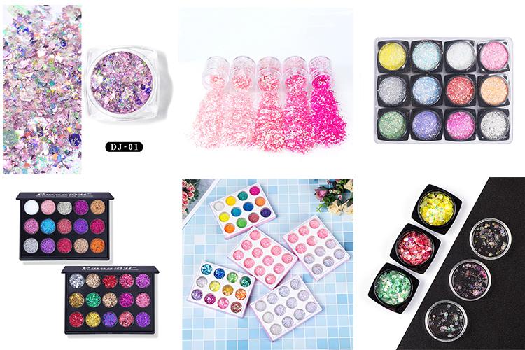 2019 Baru Warna Pergeseran Biodegradable Kosmetik Glitter untuk Tekstil Kuku Seni Kerajinan Kulit