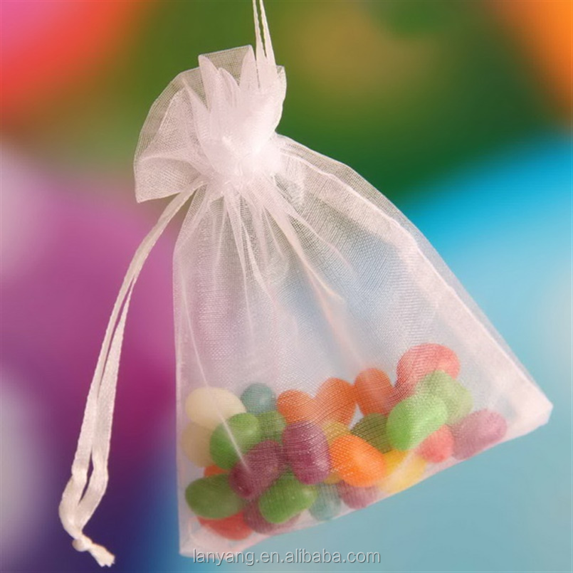Multicolor Organza Bag Jewelry Pouches Satin Drawstring Favor Bags Wholesale
