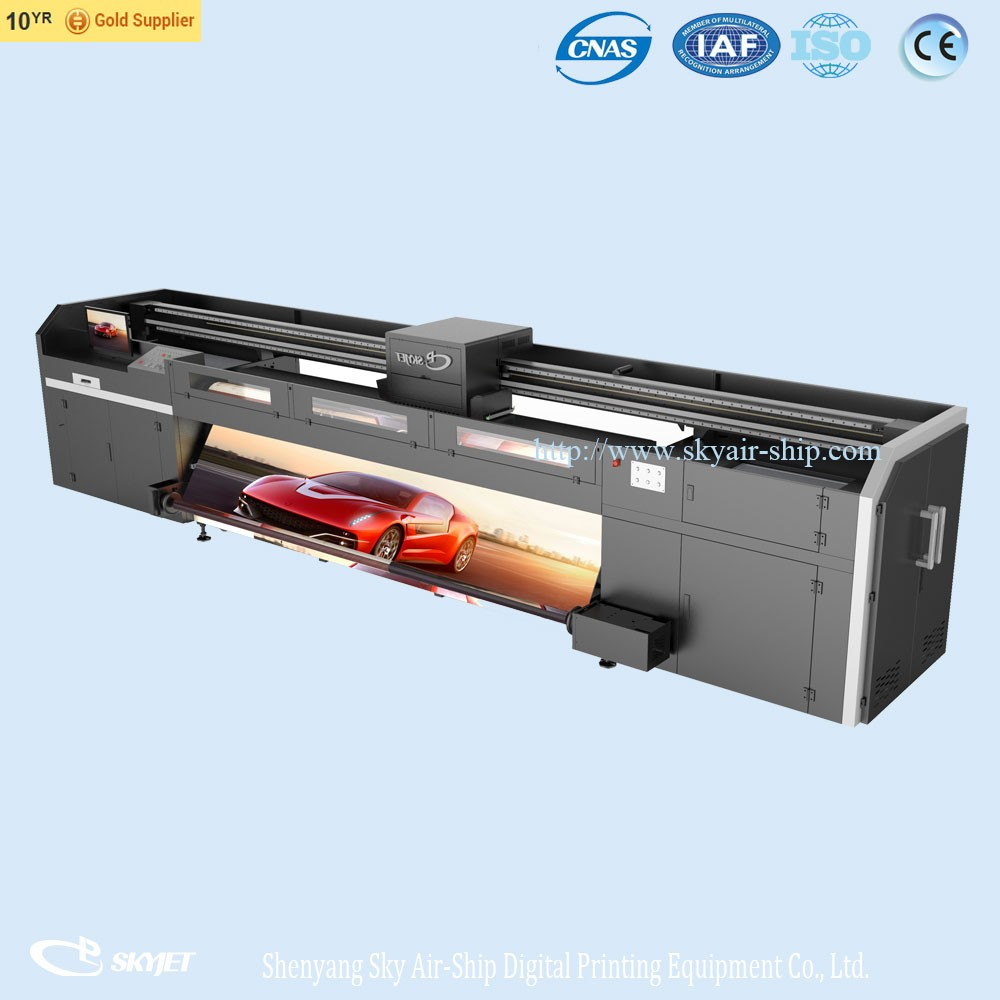 3.2m large format digital inkjet uv roll to roll uv printer price