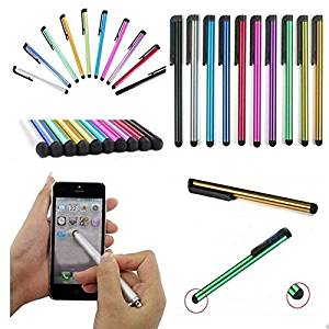 Constructan(TM) 10pcs/lot Metal Stylus Touch Screen Pen for iPhone 5 4s iPad 3/2 iPod Touch Suit for Universal Smart Phone Tablet PC