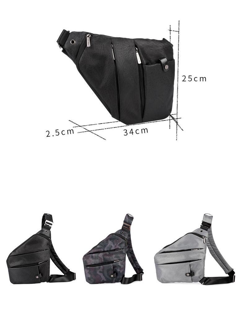 cee4f72e8837 Новая мода Мужская сумка через плечо сумка мужская большая емкость Досуг  человек поясная сумка