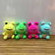 Cute custom Stuffed peluches frog plush toy cartoon character wholesale for crane machines