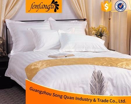 Wholesale 100% cotton 300TC bed spread hotel bedding sets form China factory