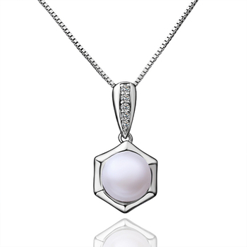 Simple design fashion polygon large pearl pendant pearl pearl simple design fashion polygon large pearl pendant pearl pearl jewelry mozeypictures Images