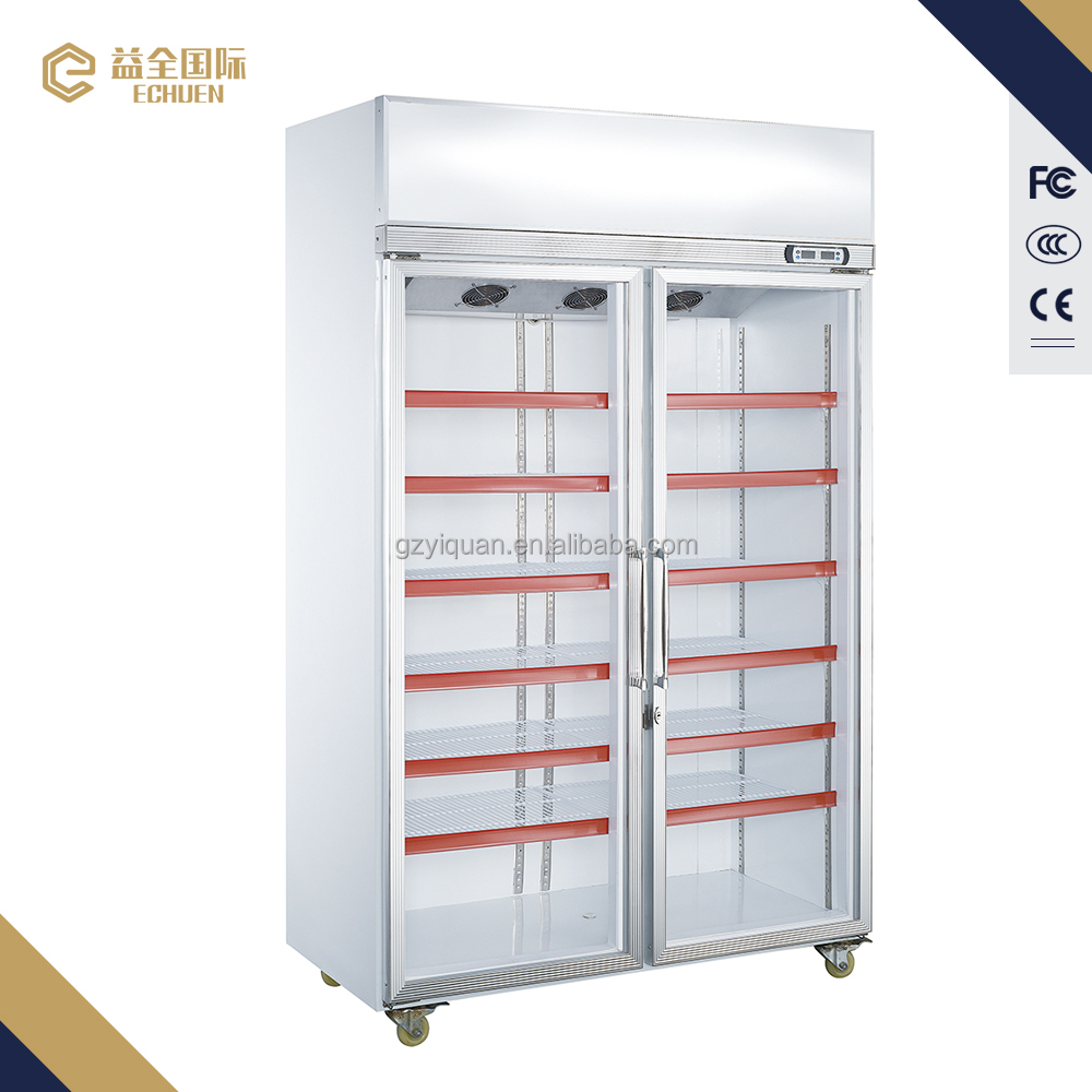 1130L Hot Sale Vertical Showcase used supermarket refrigerators display freezer