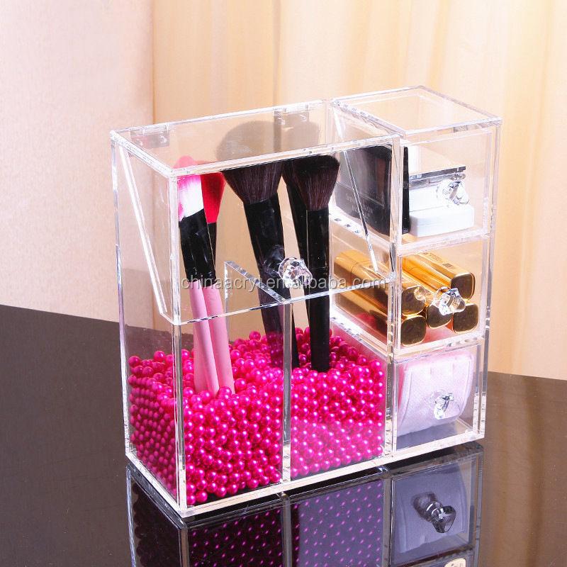 Acrylic Makeup Cosmetic Organizer W Cover Brush 3 Drawer Holder Box Storage  Uk , Buy Acrylic Makeup Organizer Uk,Acrylic Makeup Storage Uk,Makeup