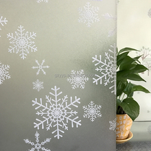 Christmas Snowflakes pattern Frosted PVC Glass Decorative Window Film