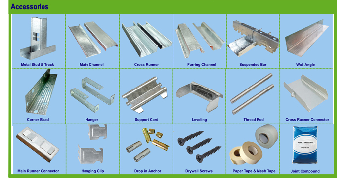 Types Of Gypsum Board : Metal studs sizes for drywall ceiling buy