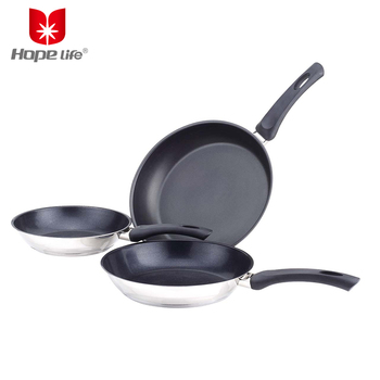 New design ceramic coating frying pans used pots and pans sale , pots and pans