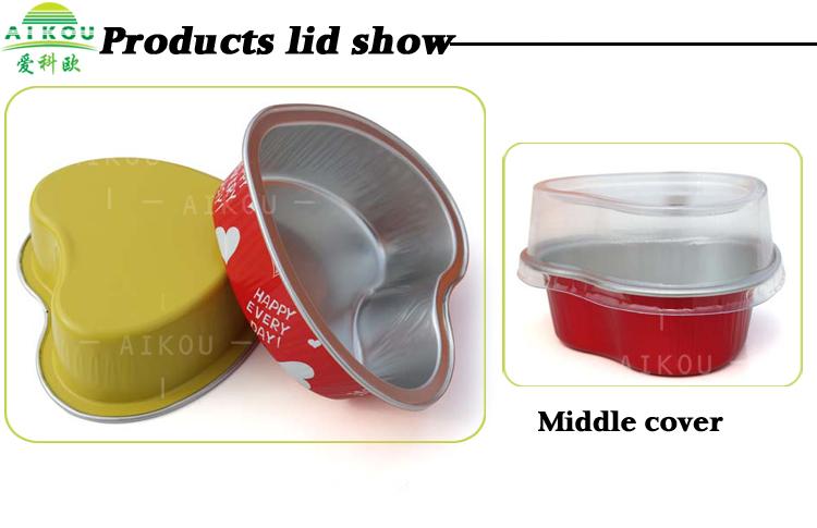 Wholesale Aluminum Foil Disposable Heart Shaped Box Baking Cup ...