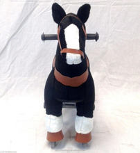 Promotional CE Mechanical horse toys ,black bouncing horse toy
