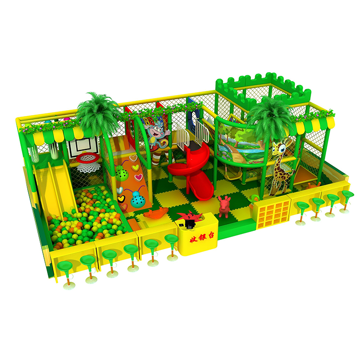 Fun virgin forest theme children indoor soft playground area for mall