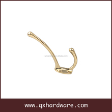Heavy Duty Metal Antique Double Hooks Wall Hook For Cloth Hat Coat