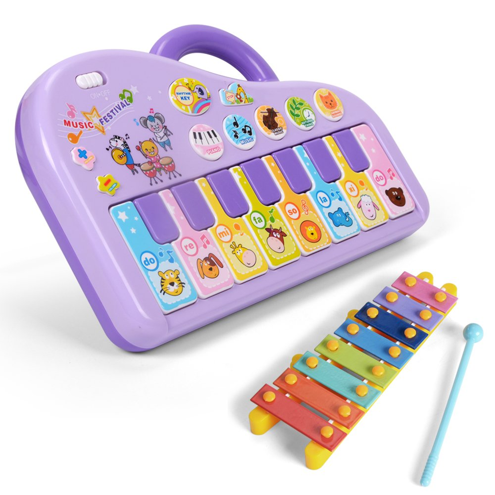 4d62306fa6014 Get Quotations · NextX Baby Music Toy Sound Piano Keyboard Electronic  Learning Toy for Kids (Purple)