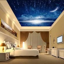 Фотообои на заказ, 3D Звездная туманность, ночное небо, настенная живопись, Потолочная оспа, обои для спальни, ТВ, фон, Galaxy(Китай)
