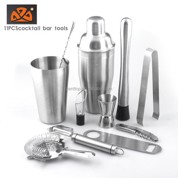 11PCS stainless steel cocktail bar tools