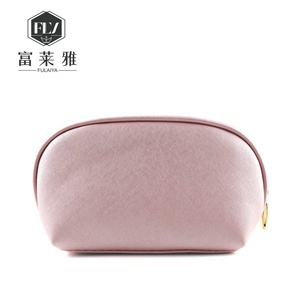 oem logo eco friendly beauty pu leather toiletry bag with zipper