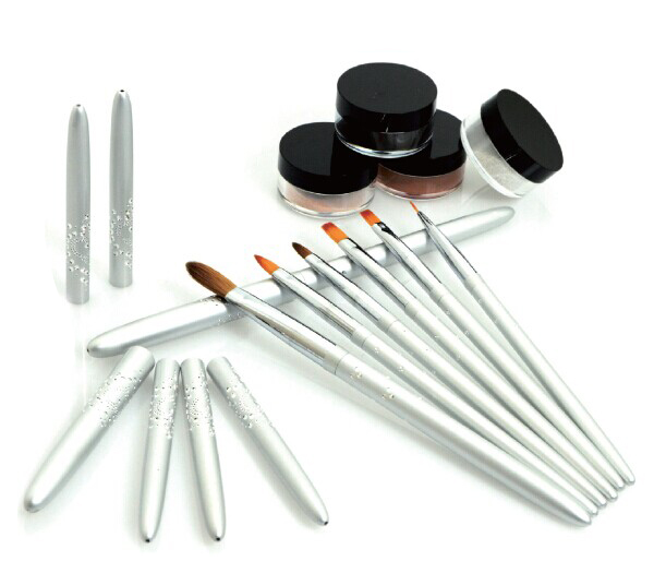 Hot sell kolinsky sable hair nail art brush setnail polish hot sell kolinsky sable hair nail art brush set nail polish applicator brush wide prinsesfo Gallery