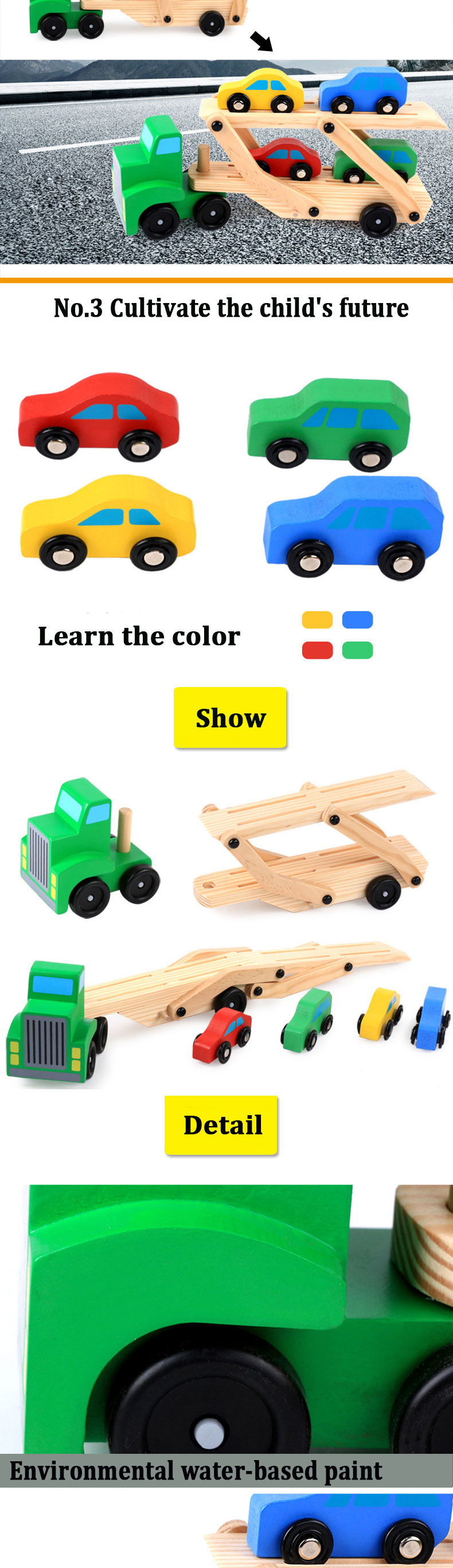 german educational toys wooden truck toy wooden car kits