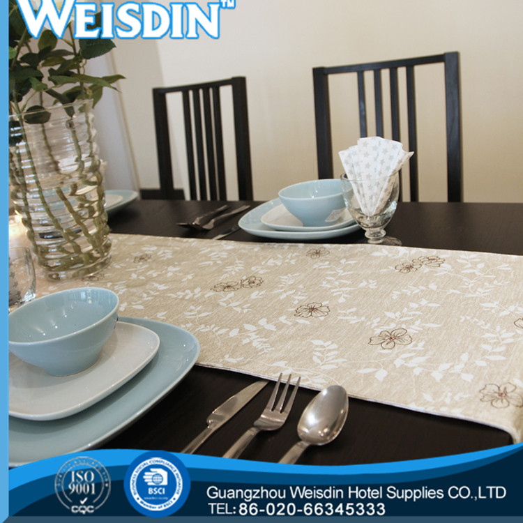 wholesalepolyester/cotton promotional natural stone table runner