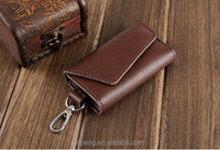 Excellent quality custom design waterproof leather keychain holder wallet