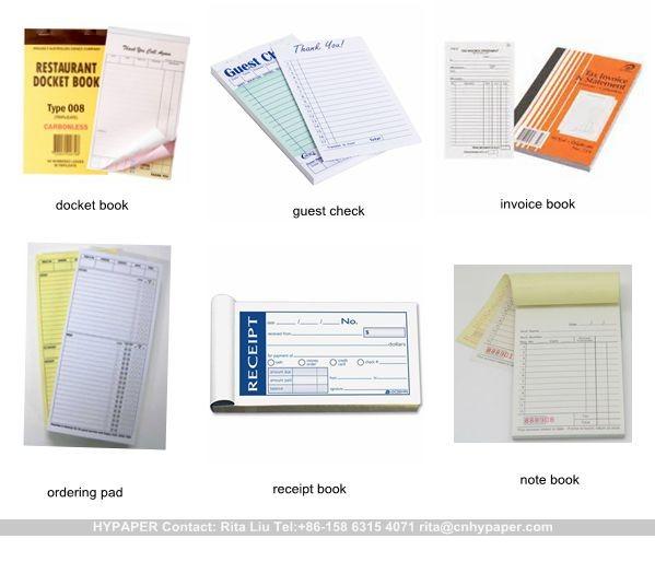 receipt book printing