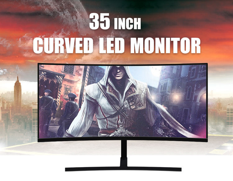 Good Brightness Curved Computer LCD Screen Monitors Display PC Monitor 34 inch 35""