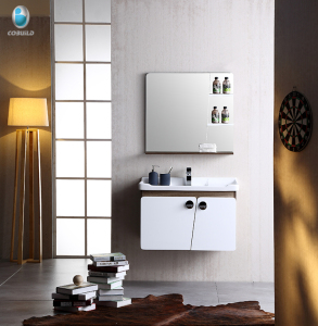 Small size cheap single bathroom sinks vanity bathroom cabinet with mirror