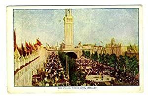The Plaza White City Amusement Park Postcard Chicago Illinois
