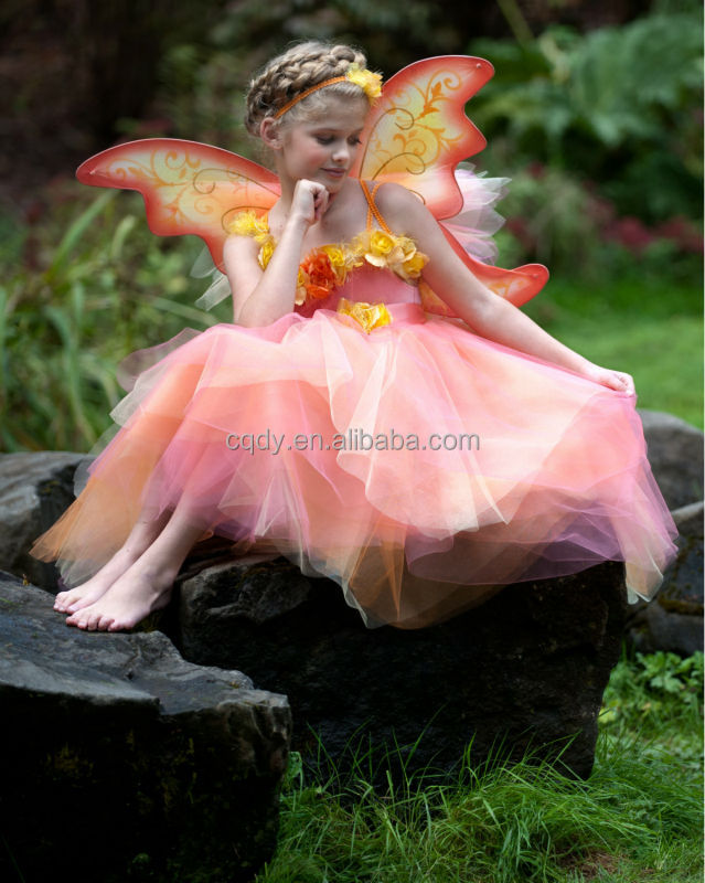2014 Latest And Most Attractive Fairy Flower Girl Dress Butterfly ...