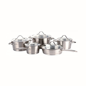 cookware 304 stainless steel casserole kitchenware cooking pot soup stock pot kitchen saute pan milk sauce pan cookware set 6029
