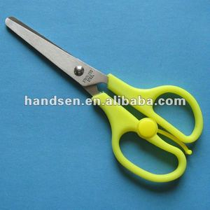 "Best-selling 5"" PP/ABS handle stopper scissors with scale"